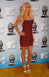 Heidi Montag shows cleavage and legs in small red dress at 2008 MTV Movie Awards